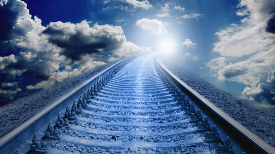 Endless railway wallpaper