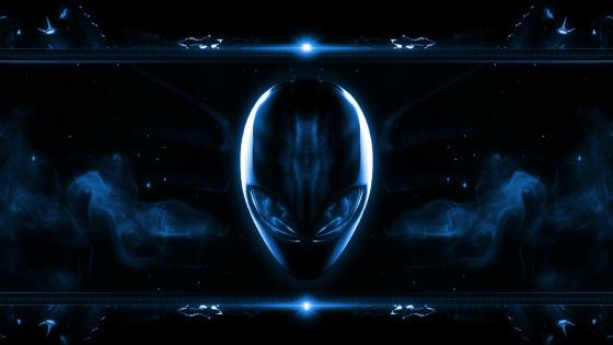 Blue Alien wallpaper