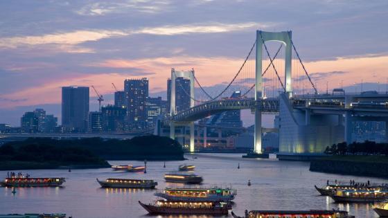 Rainbow Bridge - Tokyo, Japan wallpaper