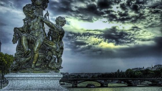 Sulpture in Saint Petersburg, Russia wallpaper