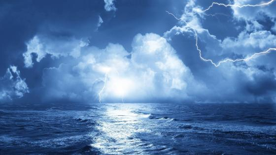 Storm in the sea wallpaper