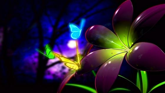 Luminous Butterfly wallpaper