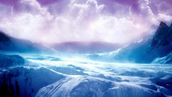 Fantasy arctic landscape wallpaper