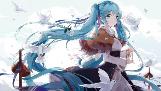 Hatsune Miku Illustration wallpaper