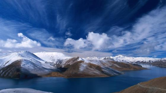 Pangong Tso (Pangong Lake) wallpaper