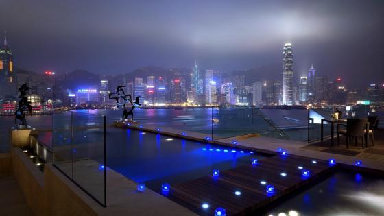 Avenue of Stars at night (Hongkong) wallpaper