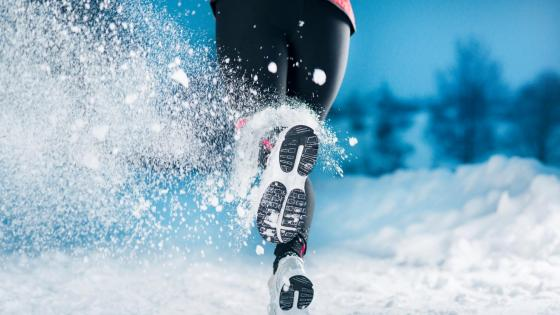 Running in the snow wallpaper