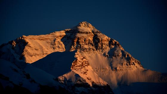 Everest north wall sunset wallpaper