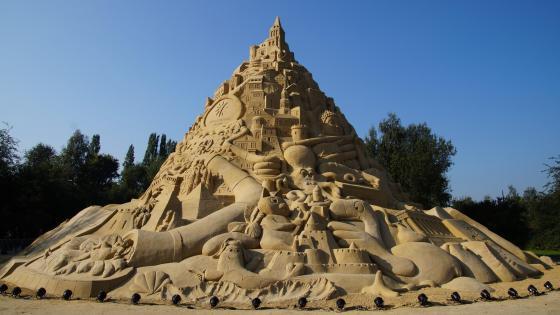 Sandcastle wallpaper