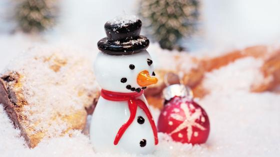 Snowman Christmas decoration ⛄️ wallpaper