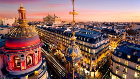 Paris view wallpaper