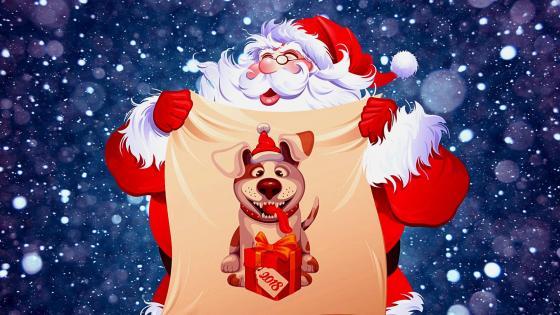 Happy New Year 2018 with Santa wallpaper