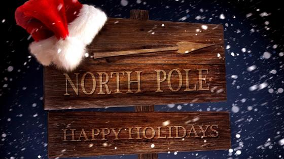 North Pole Happy Holidays wallpaper