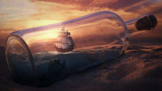 World in bottle wallpaper