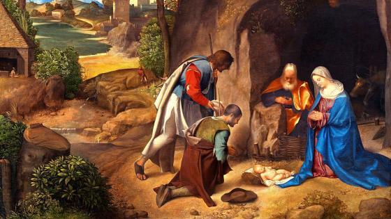 Giorgione Adoration Of The Shepherds wallpaper
