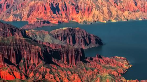 Danxia landform of China wallpaper