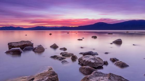 Sunset above lake Tahoe wallpaper