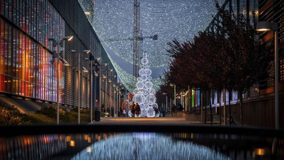 Italian Christmas city lights wallpaper