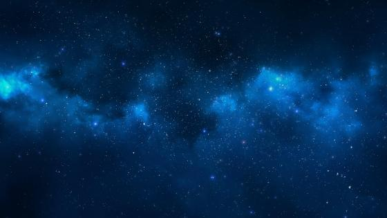 Blue nebula wallpaper