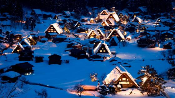 Historic Villages of Shirakawa-go and Gokayama wallpaper