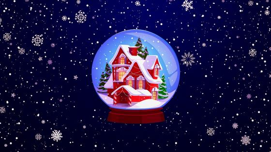 Glass Snowball Christmas Souvenir wallpaper