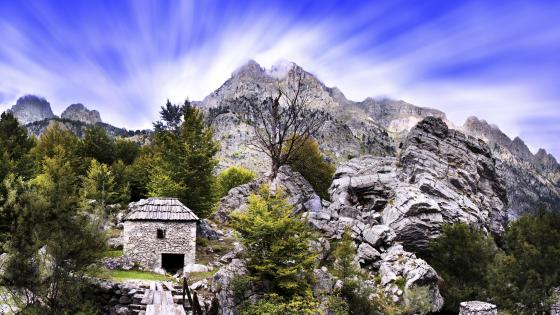 Valbona Valley - Old mill by the River (Albania) wallpaper
