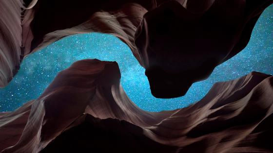 Starry sky from Antelope Canyon wallpaper