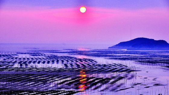 Xiapu Beach at sunset wallpaper