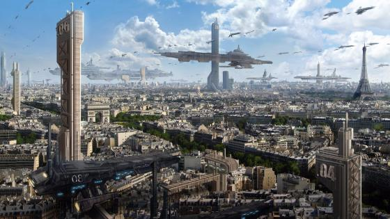 The future of Paris wallpaper