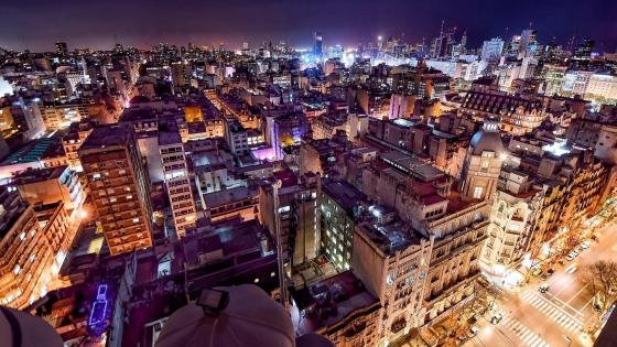 Buenos Aires at night wallpaper