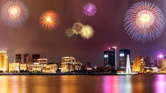 New Year fireworks wallpaper