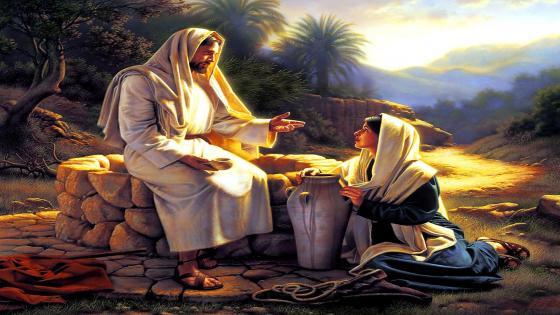 Jesus And The Samaritan Woman wallpaper