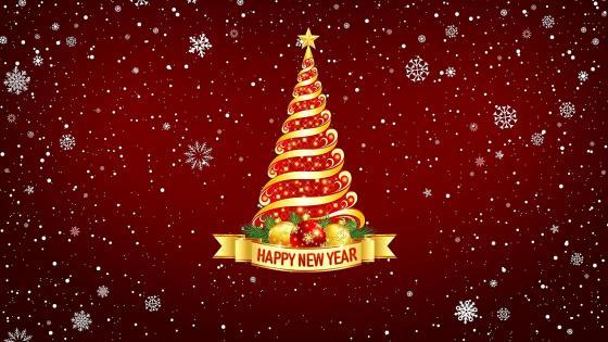 Happy New Year Christmas Tree wallpaper