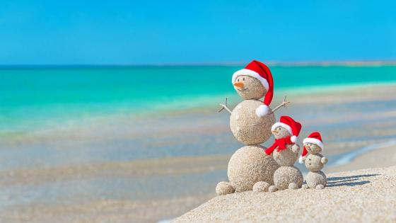 Christmas on the beach wallpaper
