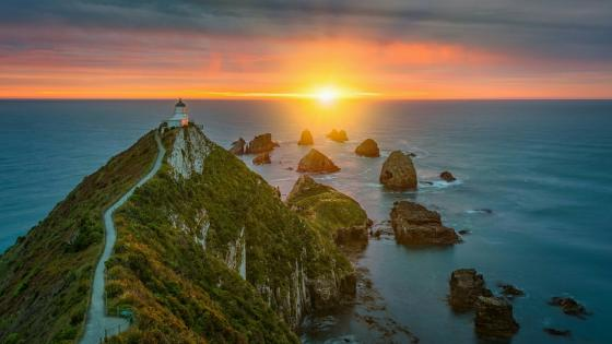 Nugget Point Lighthouse - New Zealand wallpaper