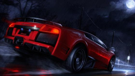 Red Lamborghini wallpaper