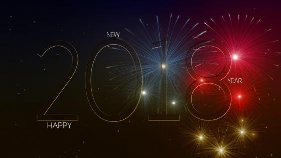2018 Happy New Year wallpaper