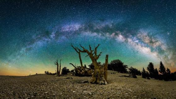 Milky Way time-lapse photography wallpaper