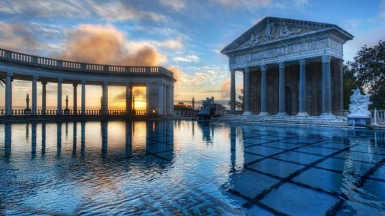 Neptune Pool at Hearst Castle wallpaper