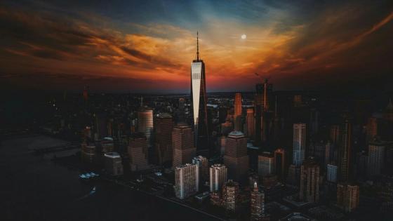 Manhattan and One World Trade Center wallpaper