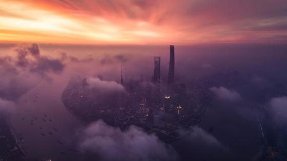 Shanghai morning wallpaper