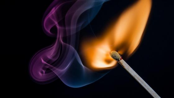 Matchstick flame wallpaper