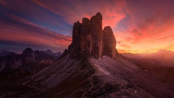 Tre Cime Di Lavaredo - Italian Dolomites wallpaper