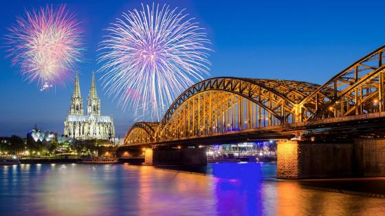 Cologne fireworks wallpaper