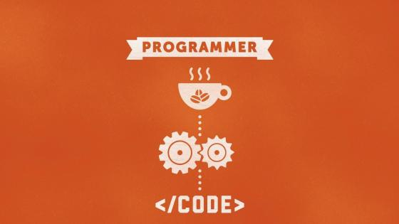 Funny programmer illustration wallpaper