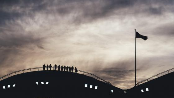 People silhouette wallpaper