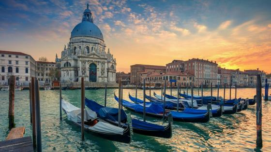 Grand Canal and Santa Maria Della Salute wallpaper