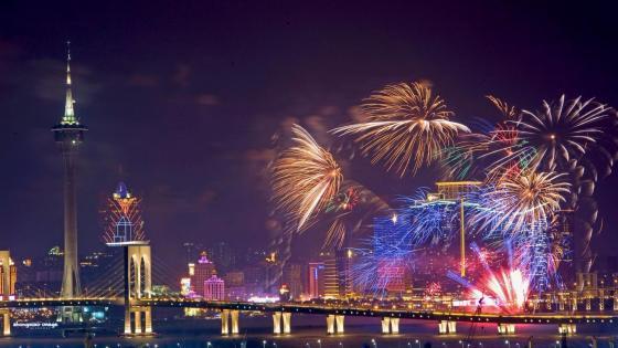Macao International Fireworks Contest wallpaper