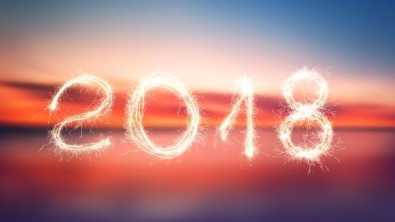 2018 sparkling wallpaper