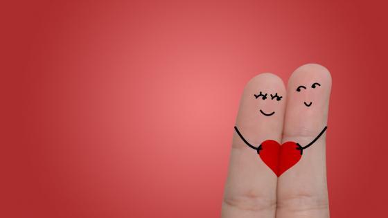 Love of Fingers wallpaper
